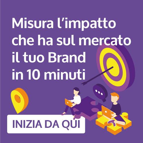 Misura l'impatto che ha il tuo brand sul mercato con 10 minuti dedicati al Marketing